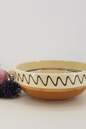 Castron traditional cu manere din ceramica de corund