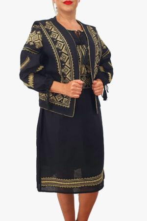 Costum Traditional - Vesta   Rochie   Brau cu model traditional