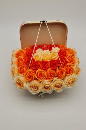 Set cadou - Trandafiri sapun - Valiza cu Flori 5