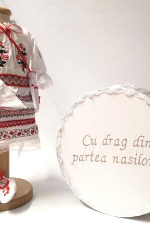 Set Traditional Botez  Fetita - Costumas + Cutie trusou 5