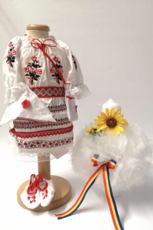 Set Traditional Botez Fetita - Costumas + Lumanare 5
