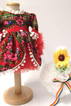 Set Traditional Botez Fetita - Costumas + Lumanare - TUL 2
