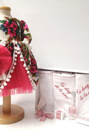 Set Traditional Botez Fetita - Costumas + Trusou - TUL