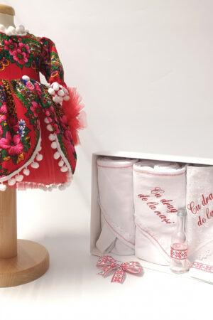 Set Traditional Botez Fetita - Costumas + Trusou - TUL 2