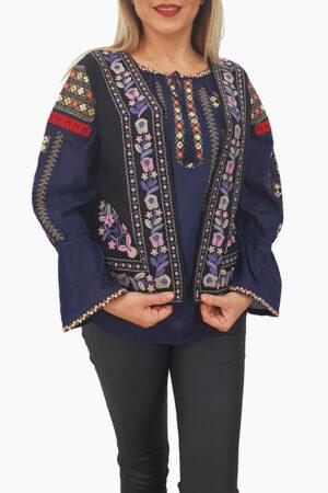 Vesta brodata cu model traditional Suzi 3